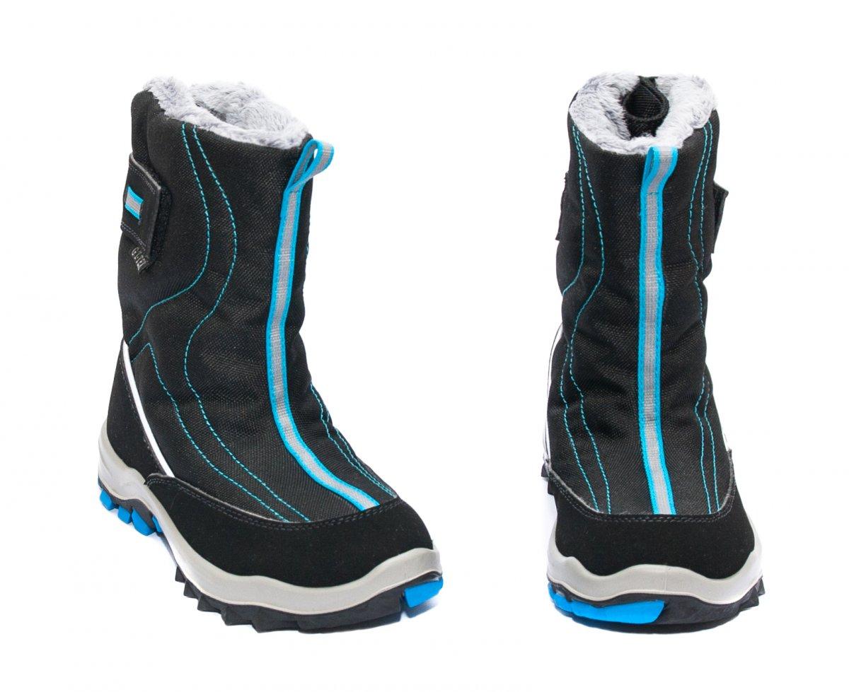 Apres ski copii impermeabile gt-tex 93120 negru albastru 26-36