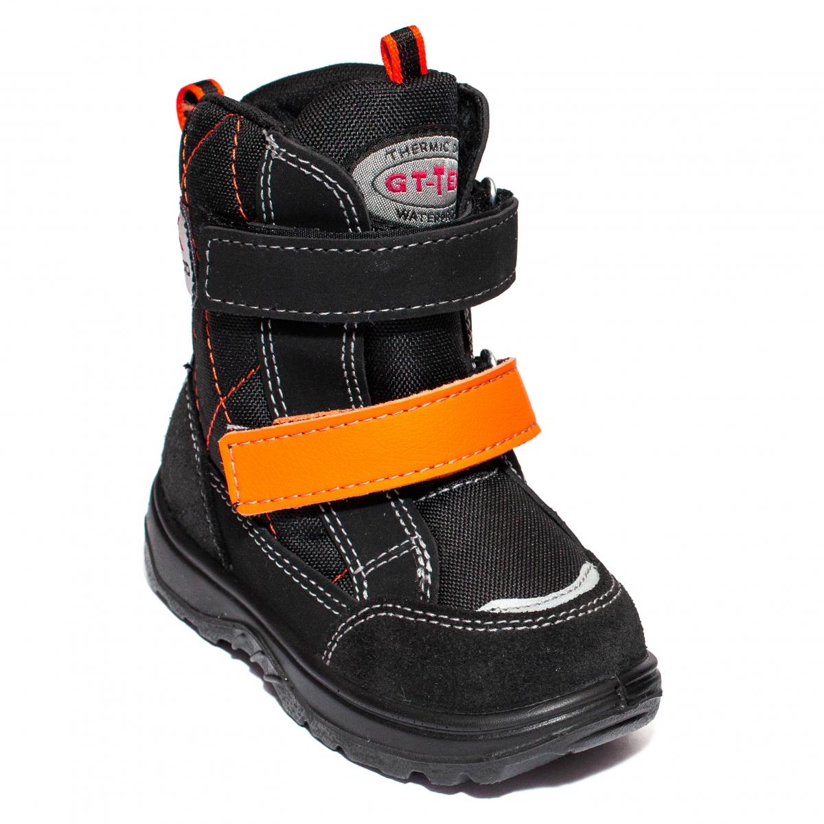 Apreskiuri copii blana GT tex 95113 negru orange 26-37