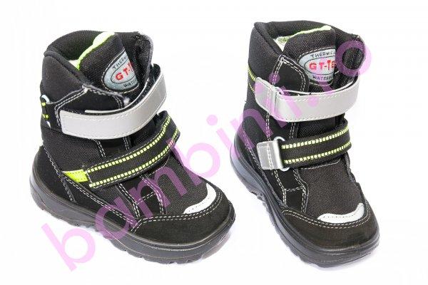 Apreskiuri copii waterproof 95312 B negru verde 26-38