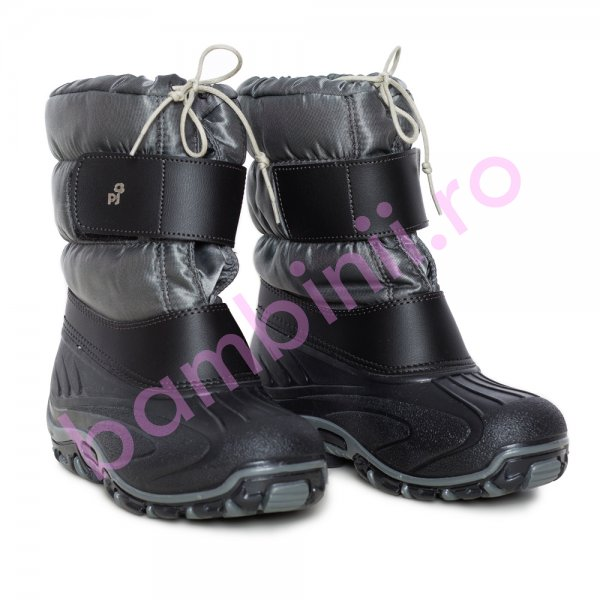 Apreskiuri copii pj shoes Fun gri inchis 21-36