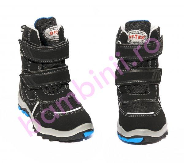 Apreskiuri copii waterproof goretex 85407 negru albastru 25-39