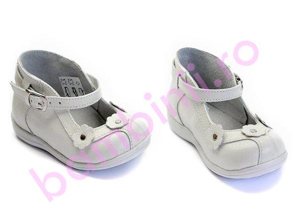 Pantofi copii piele 503 alb