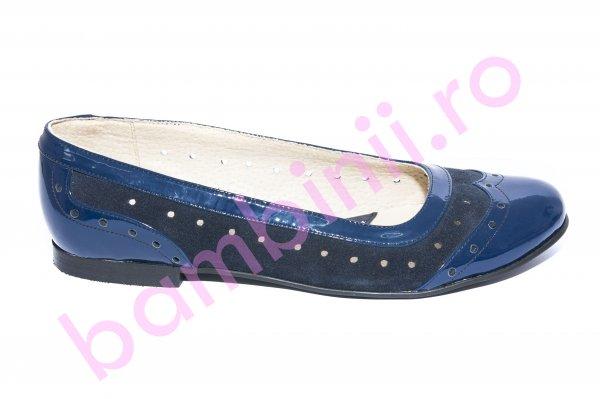 Balerini dama piele 026.5 albastru blu 34-41