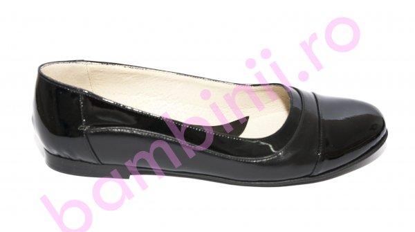 Balerini dama piele 026.8 negru lac 34-41