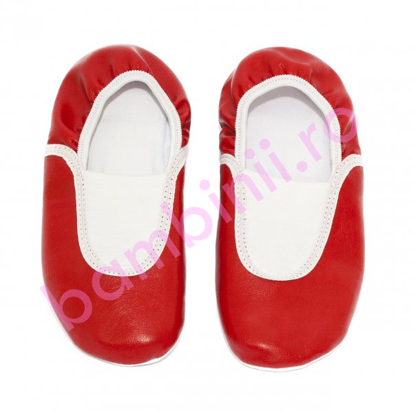 Balerini dans copii piele 25301 rosu 24-38