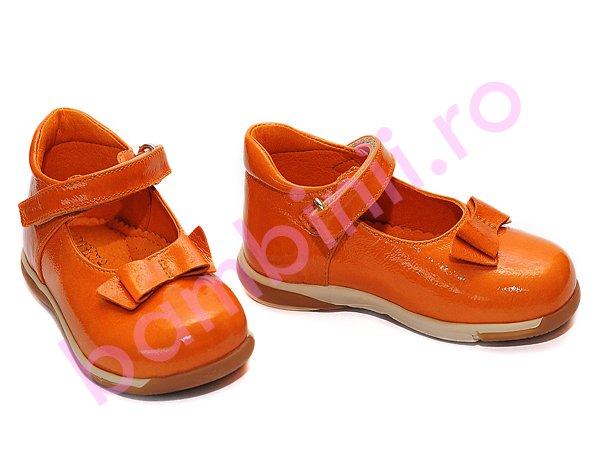 Pantofi fete piele 241 portocaliu