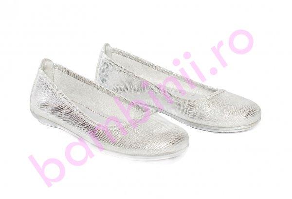 Balerini fete pj shoes Lara argintiu lux 27-37