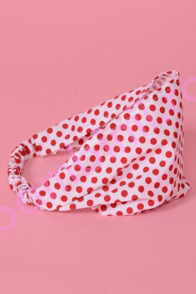 Bentite fete 506 alba cu buline rosii