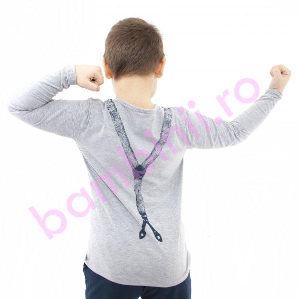 Bluza copii baieti 353 gri 110-140cm