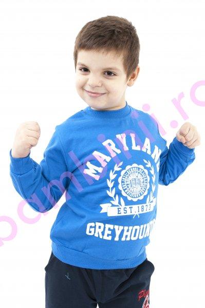 Bluza copii baieti 370 albastru 92-128cm