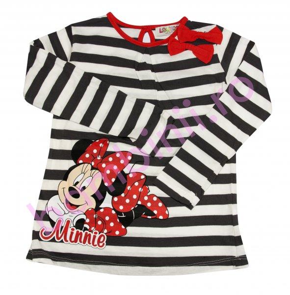 Bluze fete Disney 8068 alba cu dungi blumarin