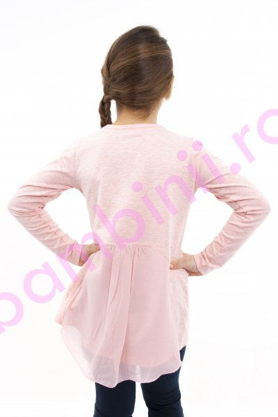 Bluza fete cu maneca lunga Mickey Mouse 3970 roz