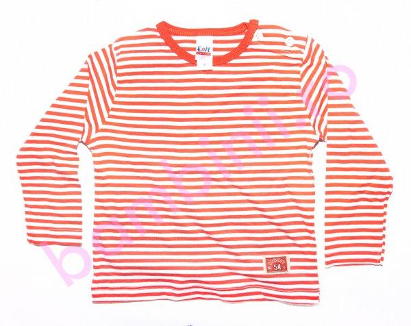 Bluze copii cu maneca lunga 3332 corai cu dungi 74-98cm