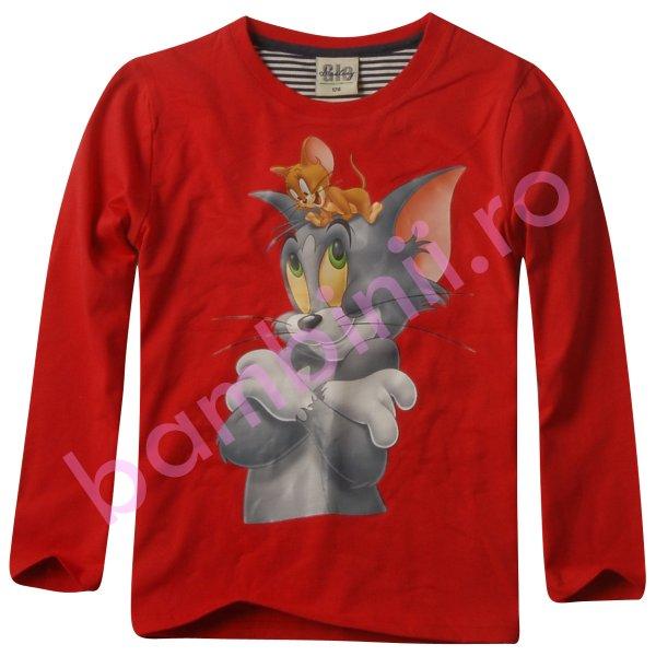 Bluze copii cu maneca lunga 4180 Red 98cm-128cm