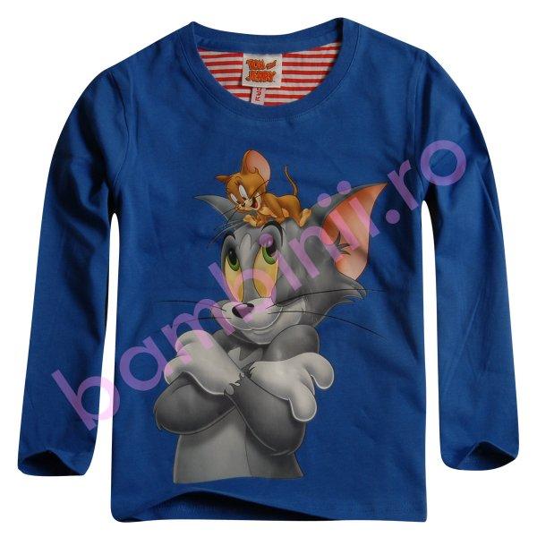 Bluze copii cu maneca lunga 4180 albastru 98cm-128cm
