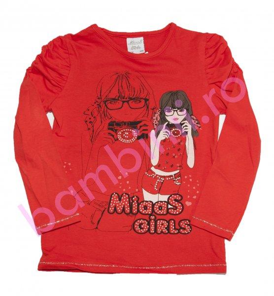 Bluze fete cu maneca lunga 8069 rosu
