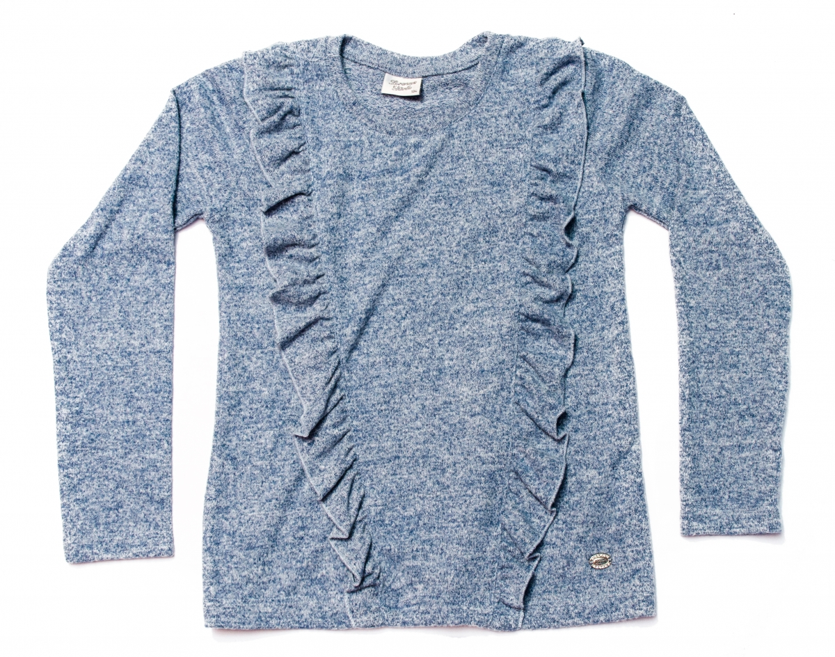 Bluze fete breeze 2655 gri albastru 128-152cm
