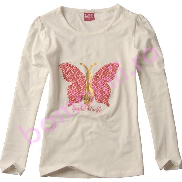 Bluze fete cu maneca lunga 3814 alb 98cm-128cm