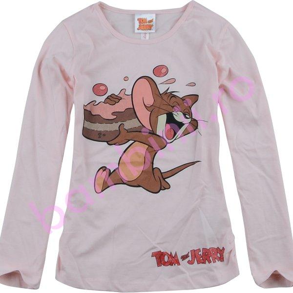 Bluze fete cu maneca lunga 4172 pink 98cm-128cm
