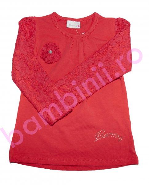 Bluze fete cu maneca lunga 8076 rosu