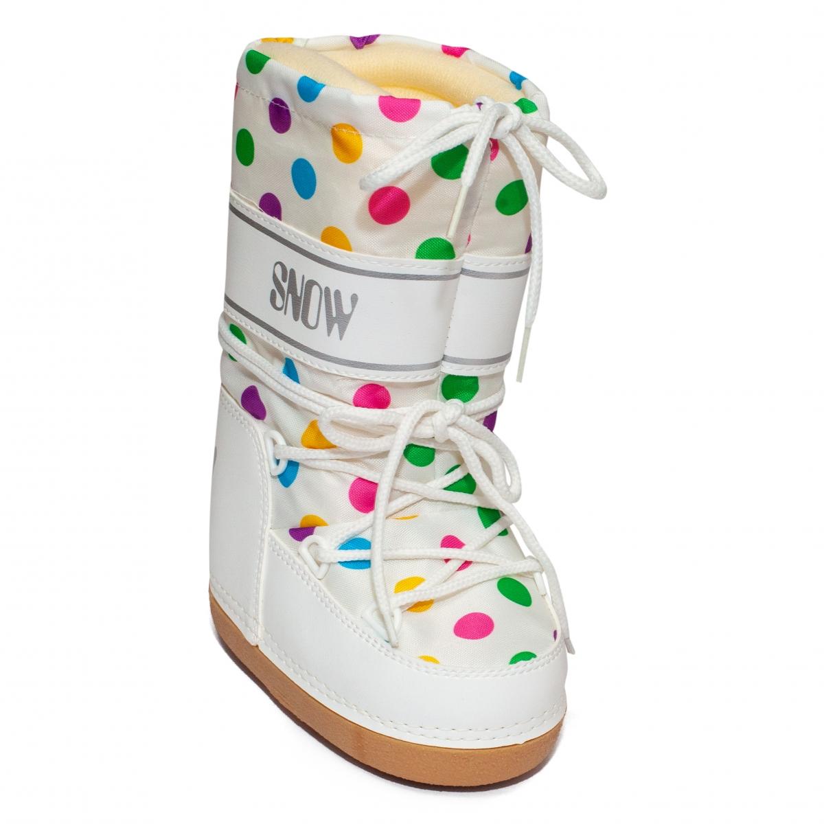 Boots fete de zapada snow 2531 alb buline 24-39
