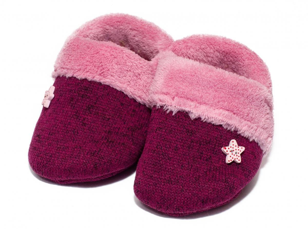 Botosei fete de iarna b23 roz mov 12luni-18luni