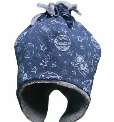 Caciula baieti mic pitic C60 albastru 44-48cm
