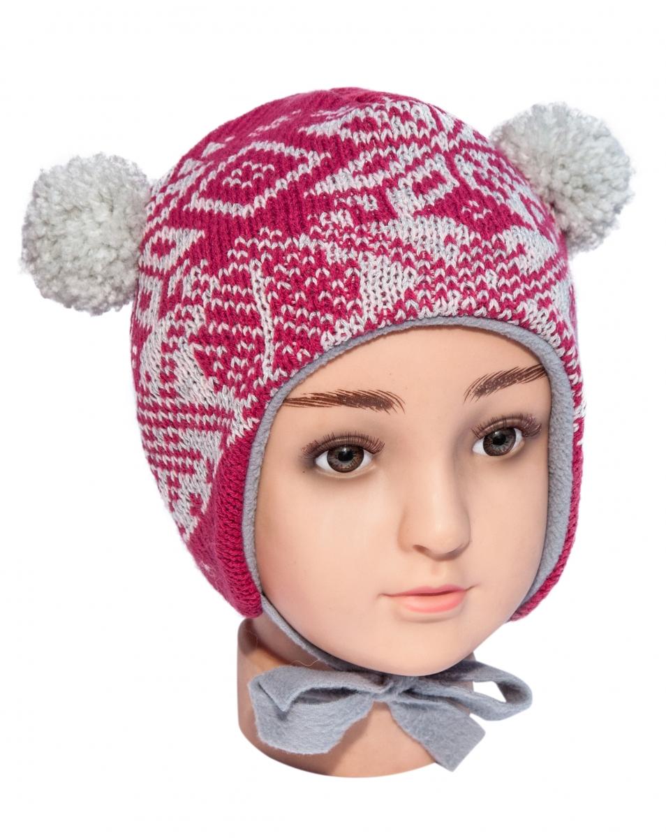 Caciula de iarna copii mic pitic TR1 rosu 44-46