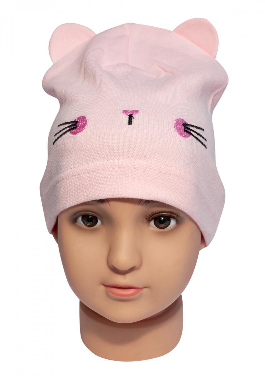 Caciula fete pisica 7372 roz 1-4ani