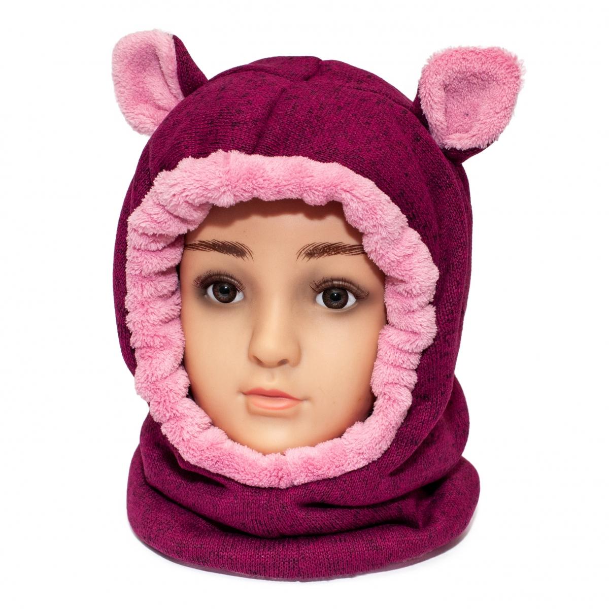 Cagula fete de iarna G5 grena roz 1-5ani