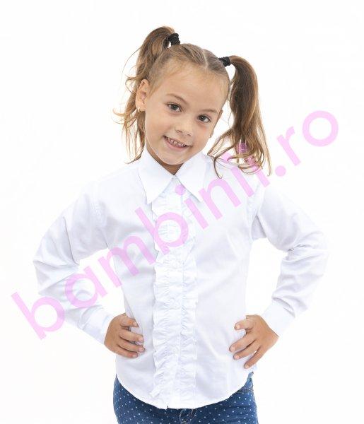 Camasi fete 3011 alb 2-15ani
