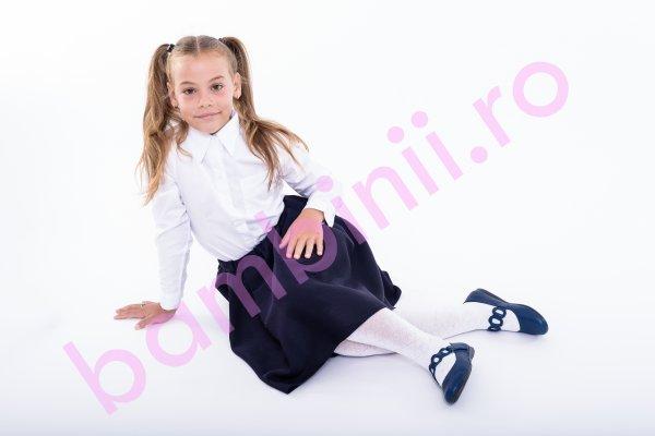 Camasi fete scoala 3012 alb 2-14ani