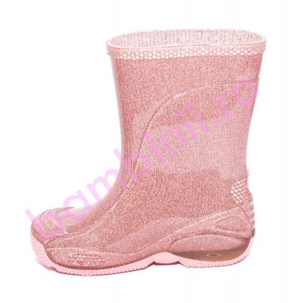 Cizme cauciuc fete 2 roz lux 20-30