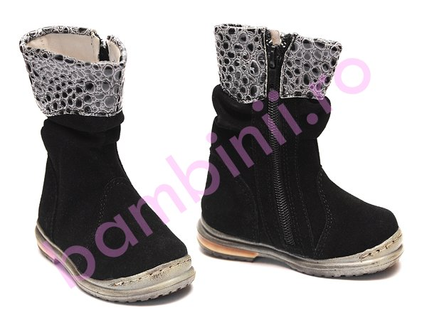 Cizme copii Pj Shoes Lili negru
