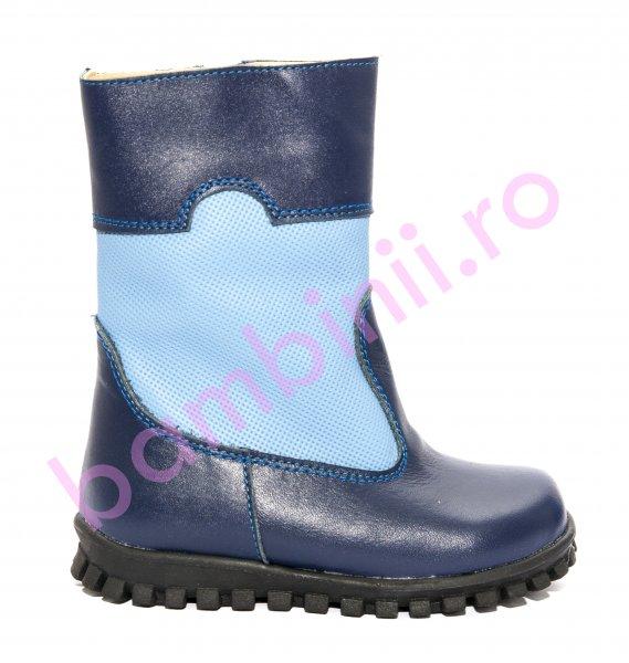 Cizme copii blana 1395 albastru blue 20-25