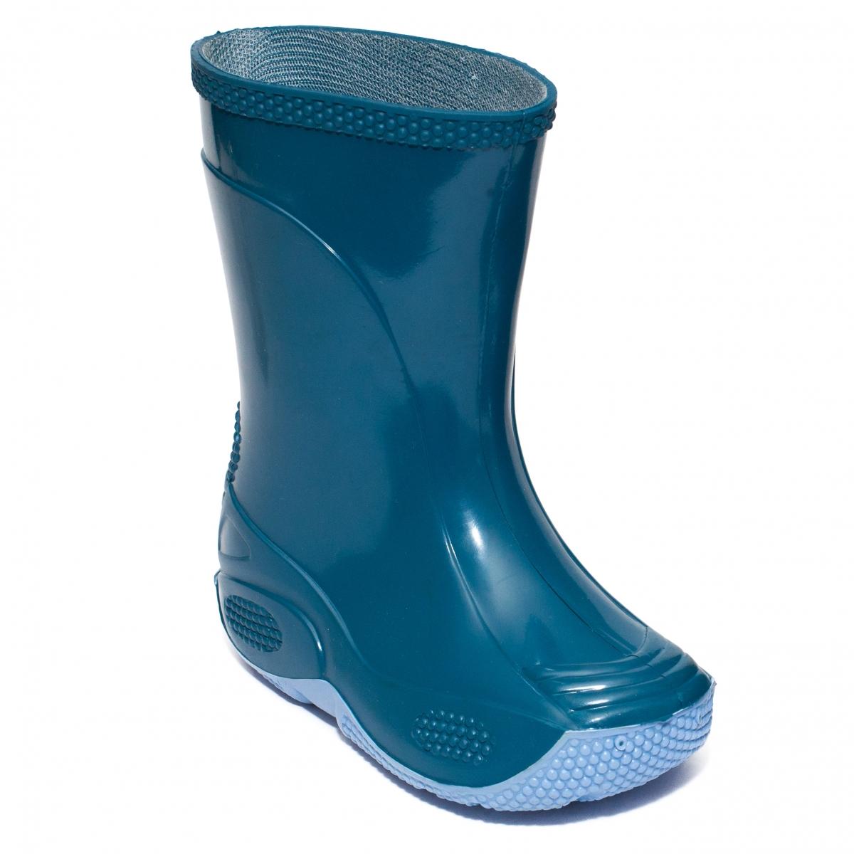 Cizme copii de ploaie din cauciuc 2 blu petrol 20-35