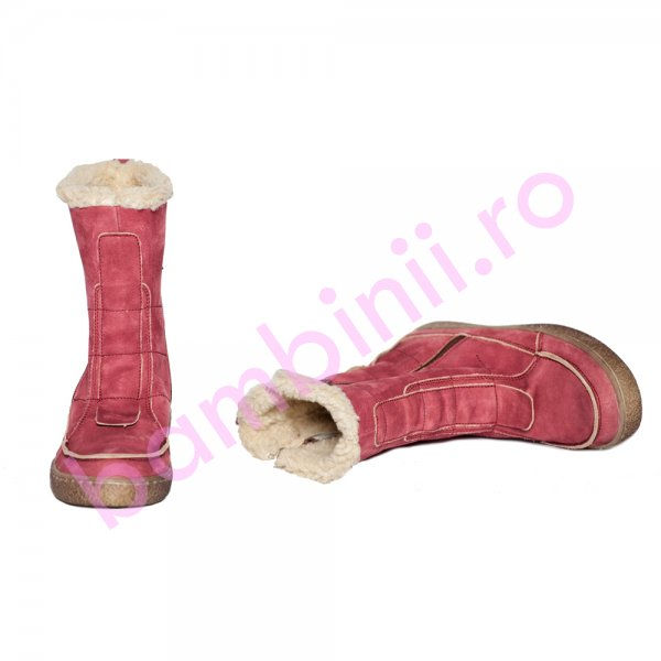 Cizme copii imblanite pj shoes Edo bordo 27-36