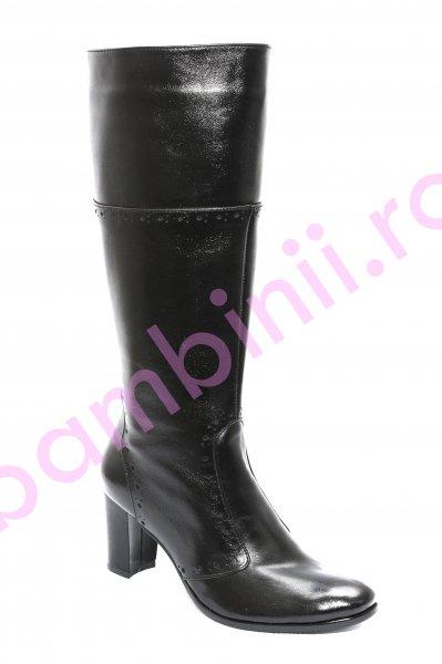 Cizme dama din piele 509 M1 negru 35-40