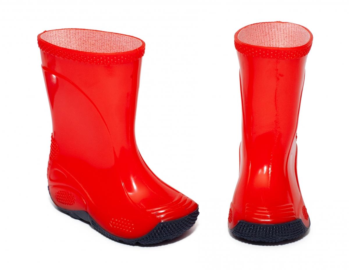 Cizme de ploaie cauciuc copii 2 rosu 20-35