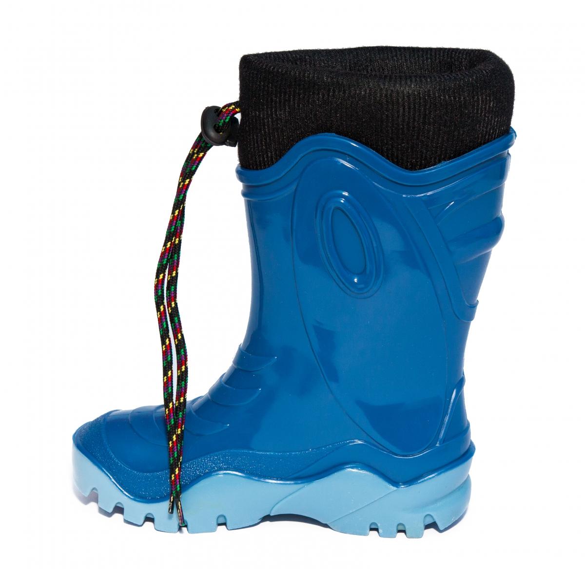Cizme de zapada copii cu blana de iarna 4 albastru 24-39