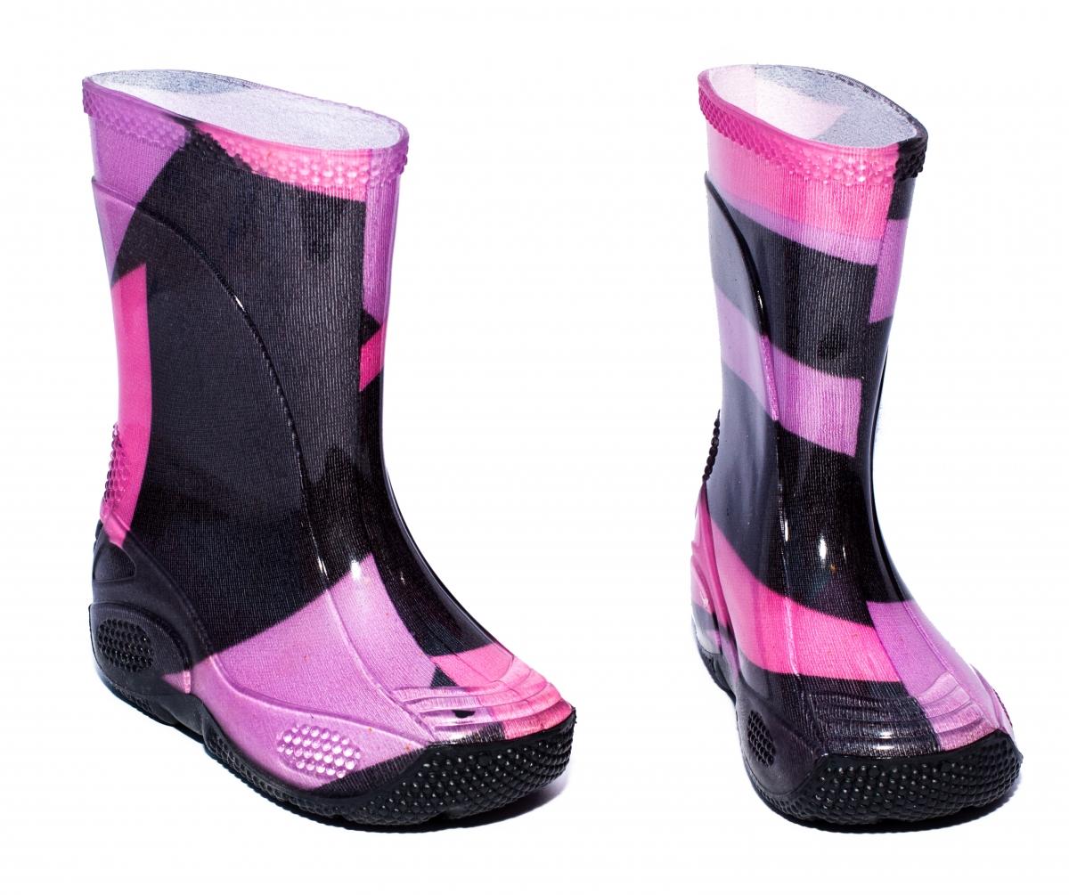 Cizme fete cauciuc de ploaie 2 mov roz 20-30
