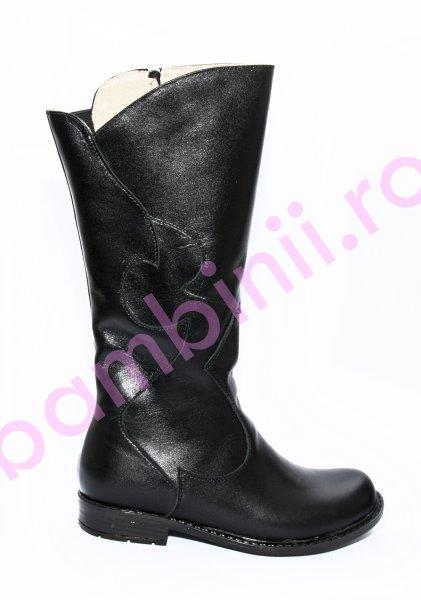 Cizme fete cu blana 1364 negru 29-36