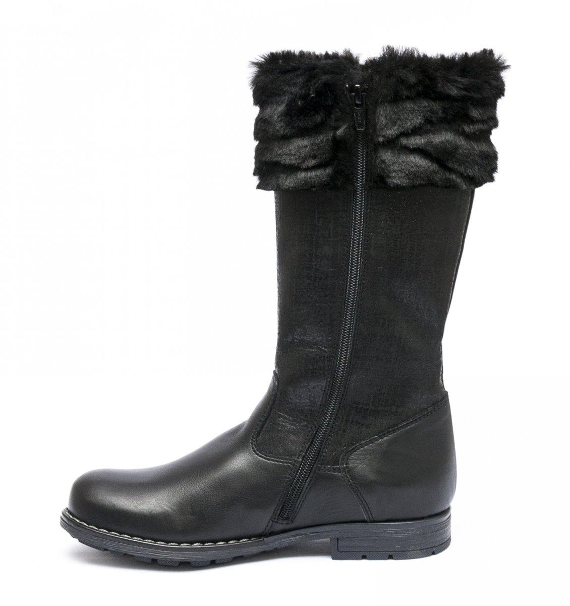Cizme fete cu blana iarna hokide 415 negru 28-37