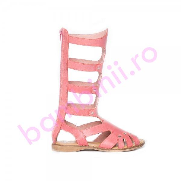 Cizme fete gladiator piele pj shoes roz 27-36