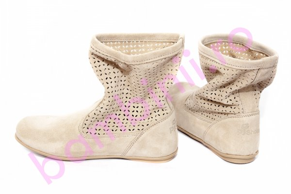 Cizme fete perforate pj shoes Isabel bej 31-38