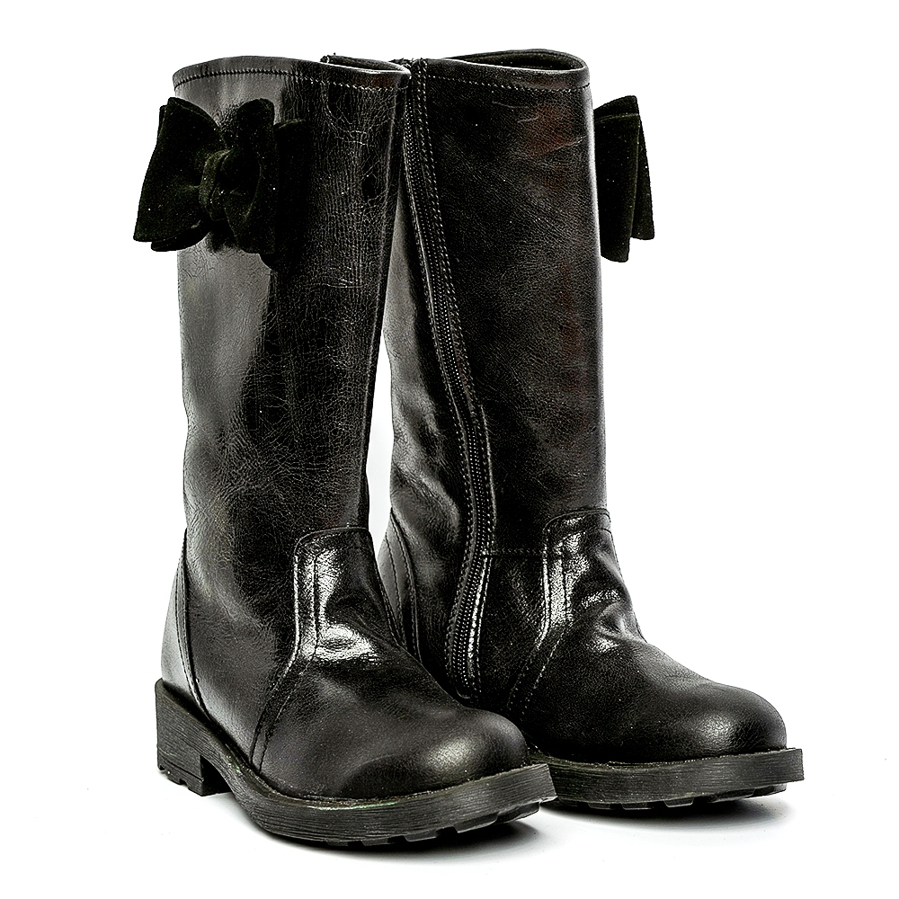 Cizme fete piele pj shoes Ada negru 27-36