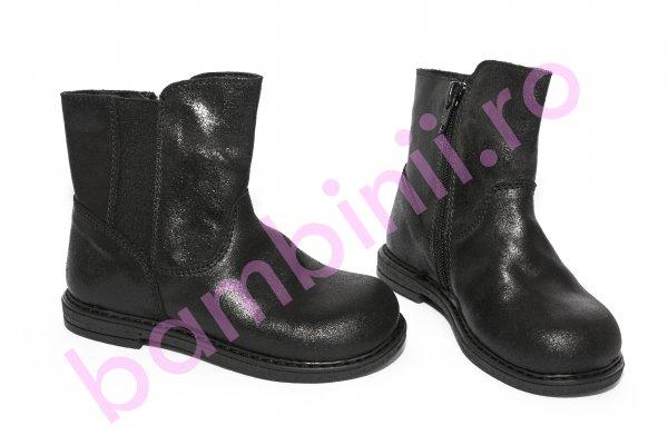 Cizme fete pj shoes Leyla negru 20-26