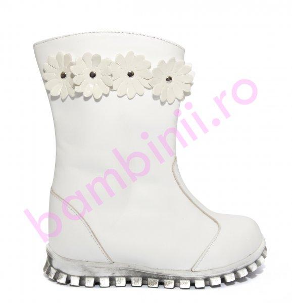 Cizme fete vatuite 547 alb alb 20-25