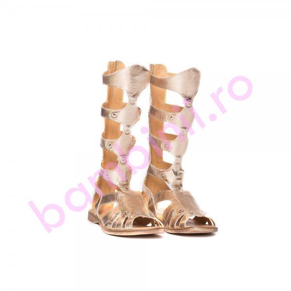 Cizme gladiator fete piele pj shoes bronz 27-36