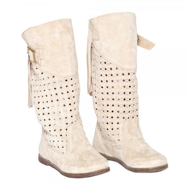 Cizmulite fete de vara Passo pj shoes bej 31-38